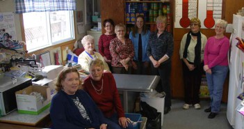 Some of the core group of volunteers at the Manitoulin Help Centre gather for a photo.