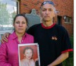 Mag Cywink and brother Alex Cywink hold a photo of their sister Sonya Nadine Mae Cywink who was murdered in 1994.