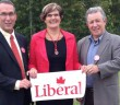 Past Algoma-Manitoulin-Kapuskasing (AMK) Liberal candidate Francois Cloutier, left, and former AMK MP Brent St. Denis pose with the newly nominated Liberal  candidate for AMK, Heather Wilson of Espanola, following her nomination meeting in Spanish last week.