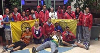 Some of the athletes at the North American Indigenous Games including  representatives from Manitoulin Island and Whitefish River First Nation.