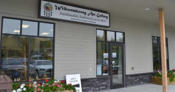 The new Wikwemikong Art Gallery located in the Wikwemikong Small Business Centre.