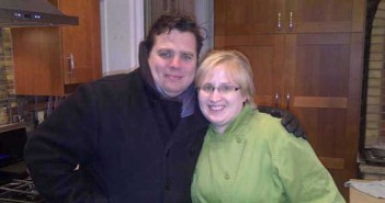 Erin (nee Cuthbertson) Delarge, chef de cuisine at the Stone Maiden Inn in Stratford, poses for a picture with Dining INNvasion host Chef Victor Barry during the filming of an episode at the inn earlier this year.