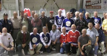 A total of 29 former Gore Bay Senior hockey team members took part in a reunion held recently at the Gore Bay arena. The players in photo at the event included Greg McLean, Blair Simms, Bob Prior, Terry Orford, Larry Hunter, Bill Clark, Don Wright, Jim Wright, Howard Linley, Don Lloyd, Doug Smith, Mike Gibbs, Jim McDonald, Art Hinds, Stan Gordon, Shelley Thibault, Bob Third, Pee Wee Oliver, Jim Thibault, Rob Porter, Mike Boyd, Jed Graham, Don McDonald, Don Carter, Randy Noble, Willis Campbell, Dan Hone, Arran Campbell and Dougal  Campbell.
