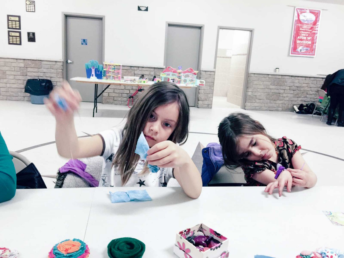 Crafts were the order of the day during Assiginack's March Break events.