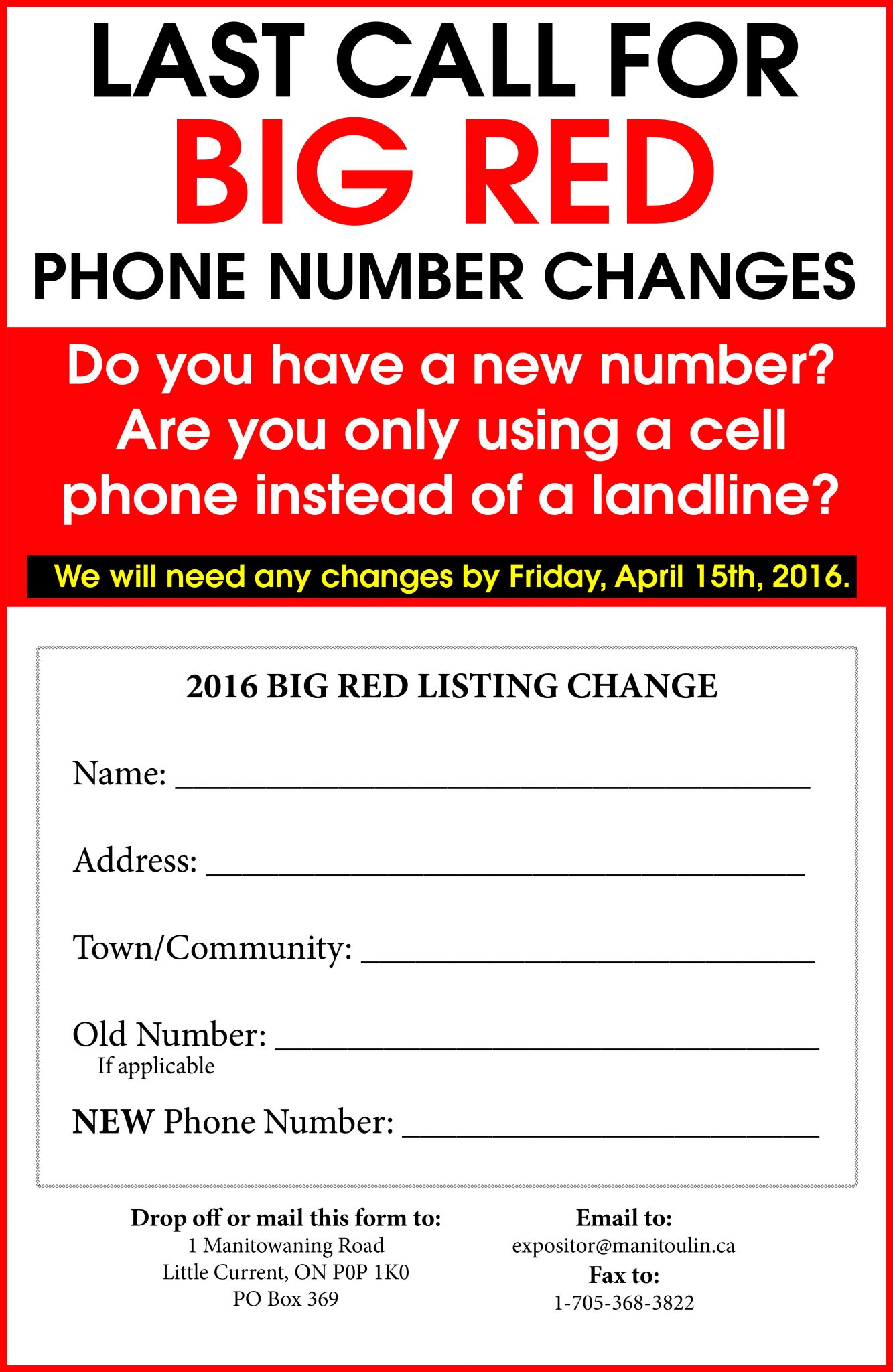 Is there a way to request new phone listings?
