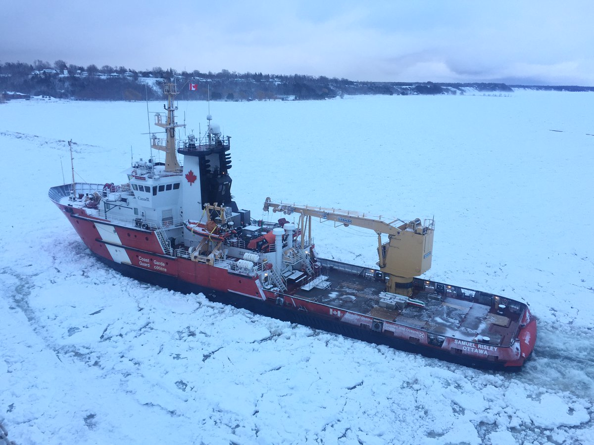 Coast Guard working to free vessels from ice