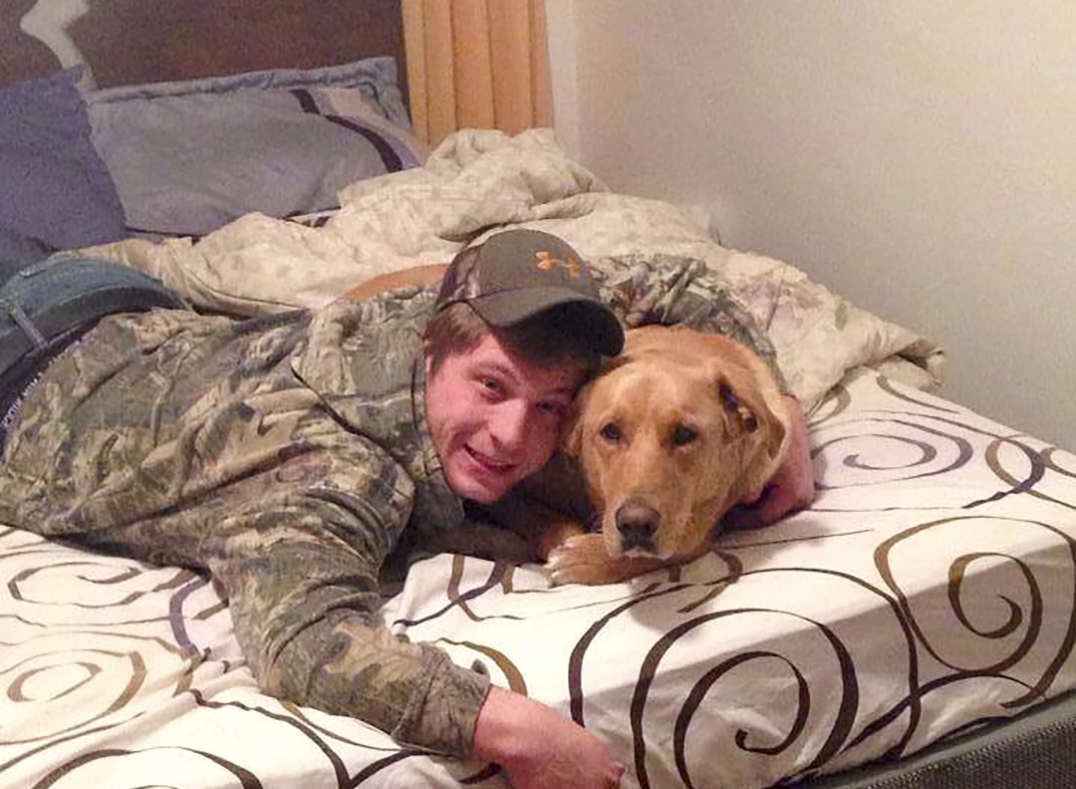 Cody MacKenzie and his dog Duke, who succumbed to  blastomycosis earlier this month.