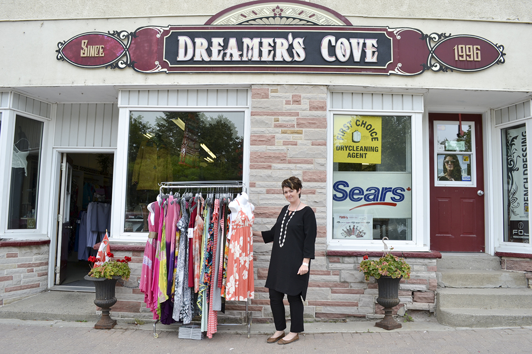 Anne Marie Thibault is the new owner of Dreamer's Cove in Little Current. Ms. Thibault plans to keep the same lines that are customer favourites, while also bringing a number of new lines and accessories to the store. photo by Robin Burridge