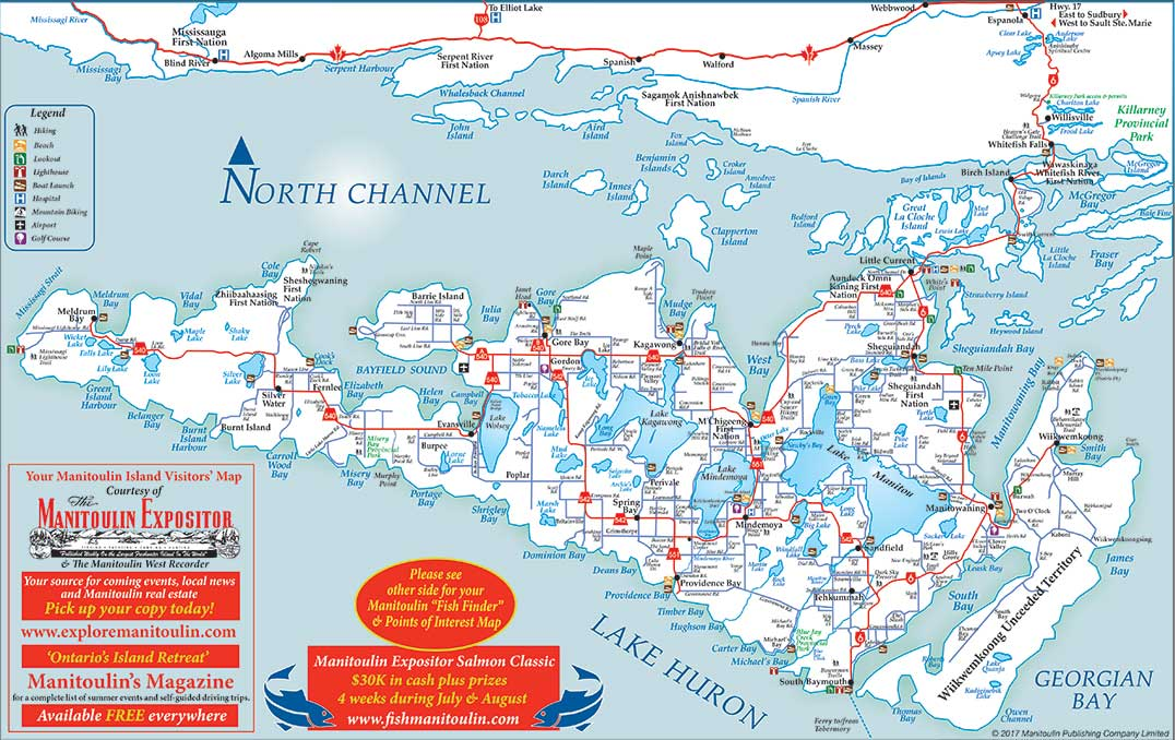 Manitoulin Island Map New Expositor made Island map proves wildly popular