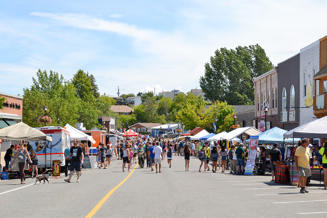 Downtown Little Current was packed with vendors, local business booths, community members and visitors both Saturday and Sunday.