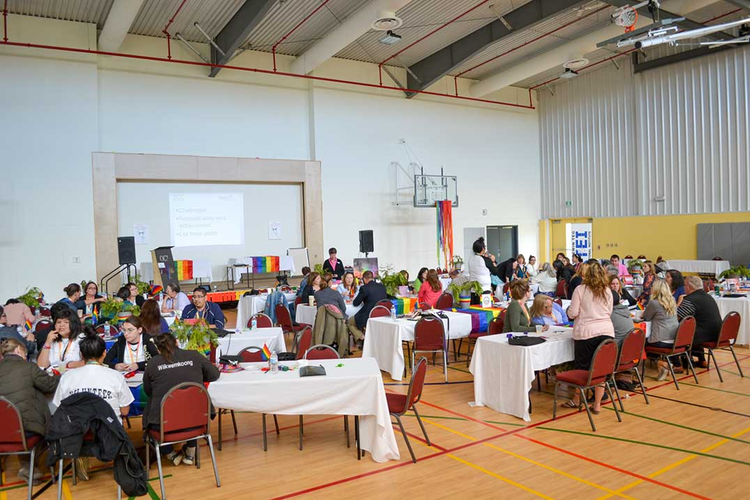 It was a full house for the first ever Manitoulin LGBTQ Two Spirit Health Awareness Conference.