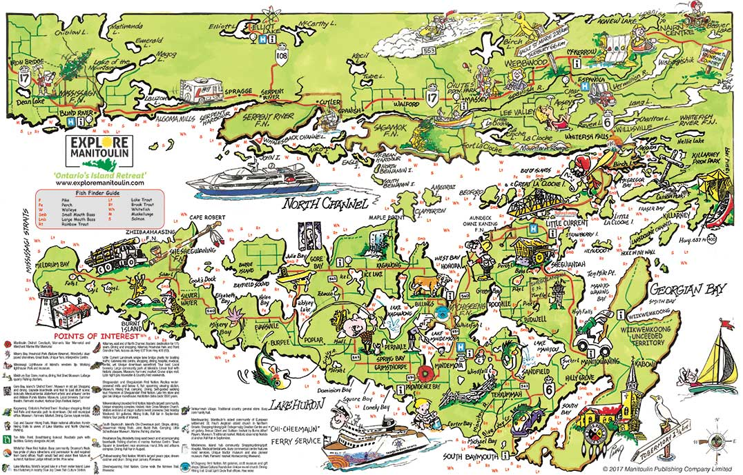 Detailed Map Of Manitoulin Island Map back – Manitoulin Expositor