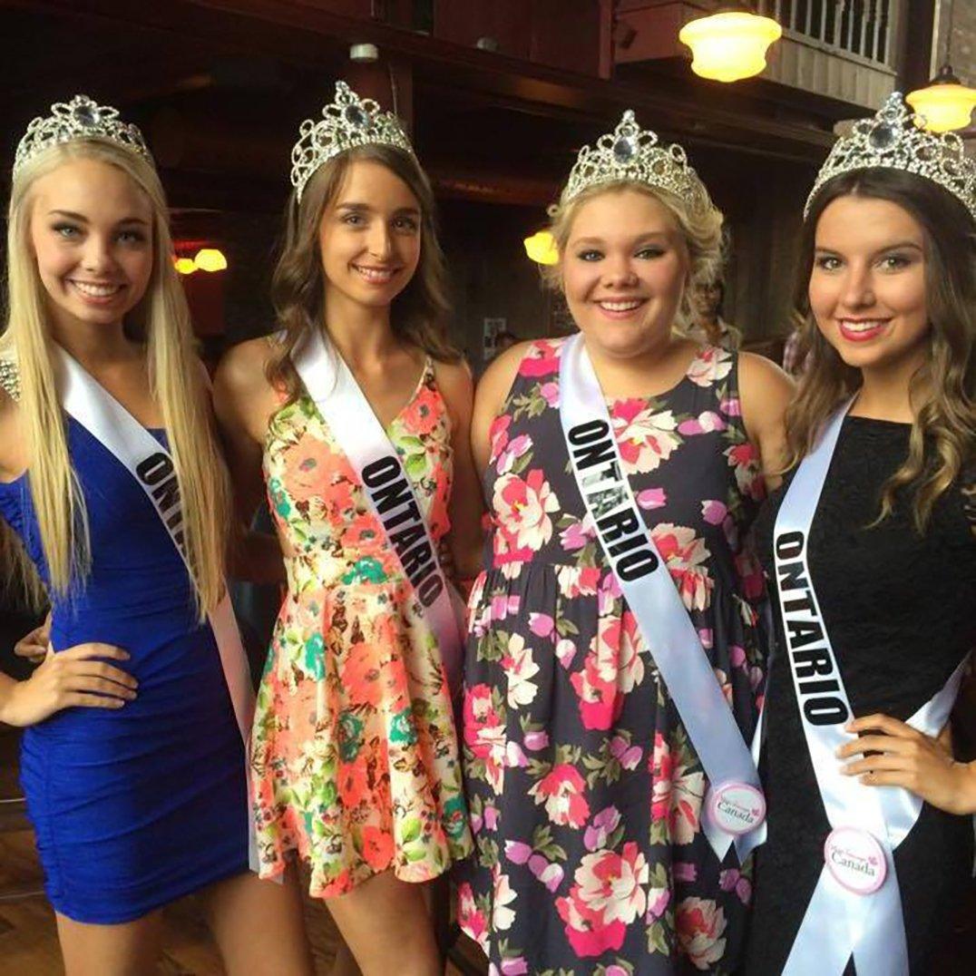 Miss teen canada contestants