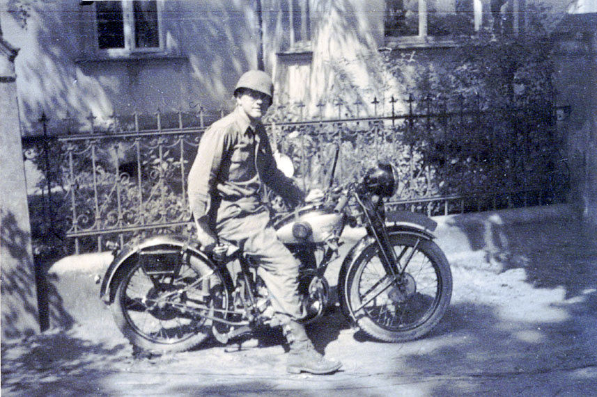 Blair circa 1945 as forward scout for th 516th Battalion from northern Germany to Bachnang, about 360 miles.