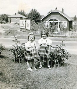 nt-marg-left-at-3-with-sister-sharon-4-at-spruce-st-home-in-sudbury-1949