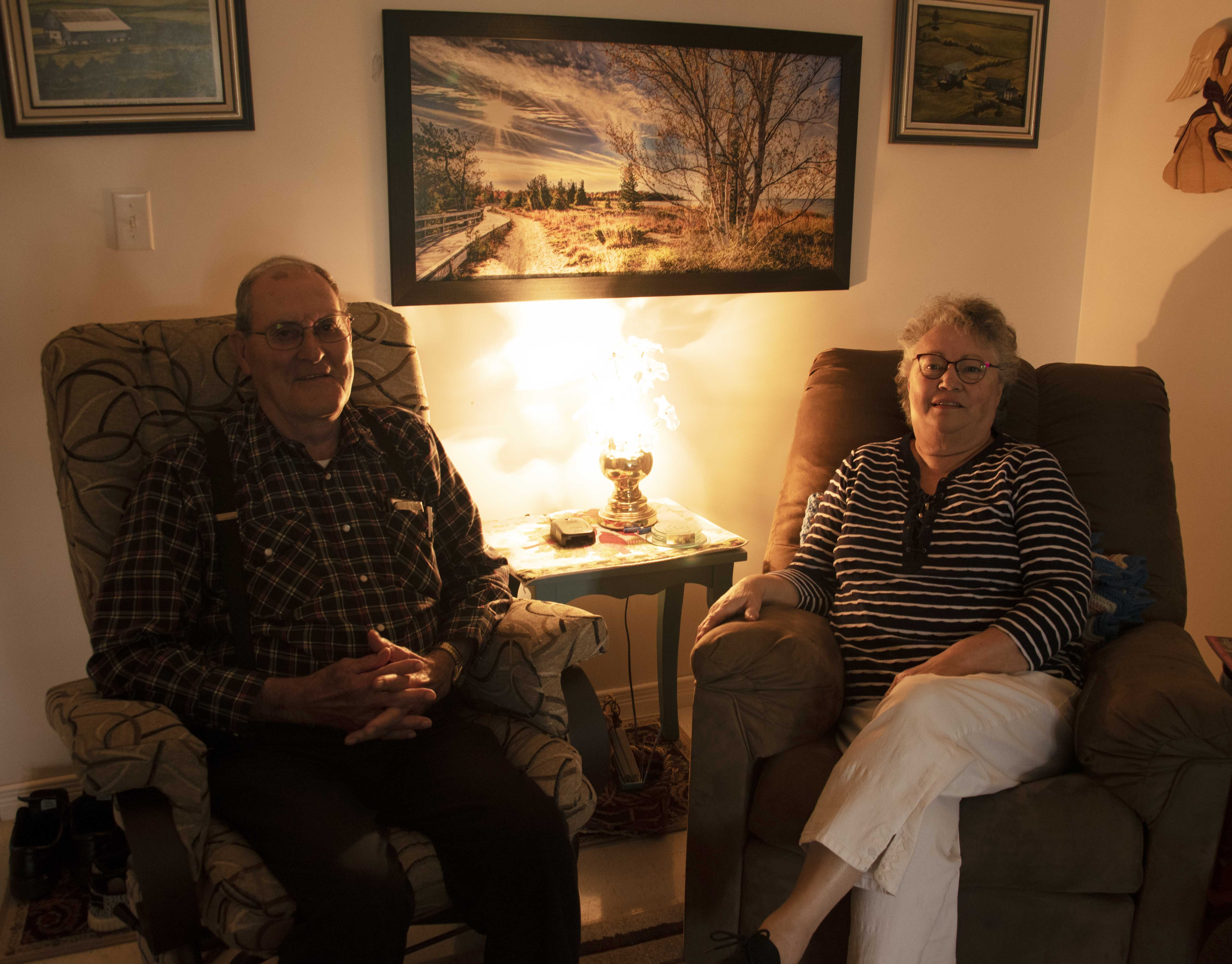 NT a recent photo of Fred and Carolyn relaxing at home
