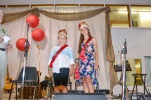 Alaina Verboom and Tieren Noble-Stone were named the Junior Queen and King for accumulating the most points in the junior section of the exhibit hall.