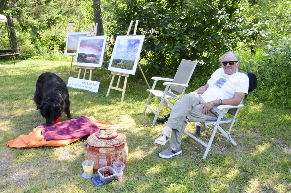 Photographer Jon Butler and his wife Kerry had many of their works on display.