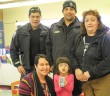 UCCM Police present M'Chigeeng Positive Ticket campaign winner Courtney McGown-Abel with an Apple iPod.