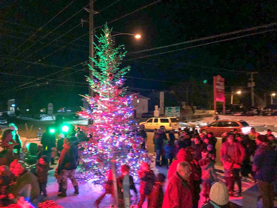 Island Christmas Tree.The Great Mindemoya Christmas Tree Lighting A Success